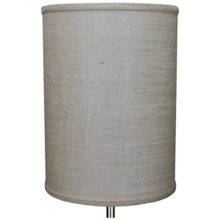 11 Burlap Drum Lamp Shade