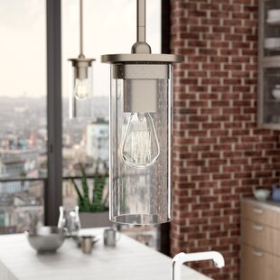 Williston Forge Turner 1-Light Cylinder Pendant