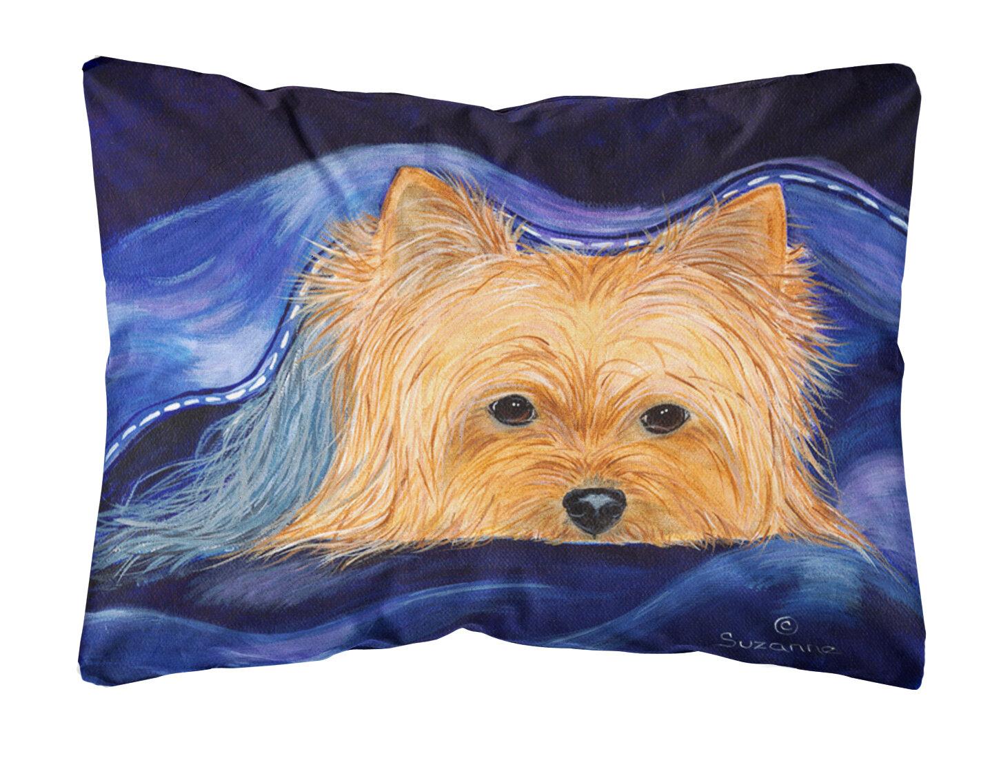 East Urban Home Yorkie Indoor Outdoor Throw Pillow Wayfair