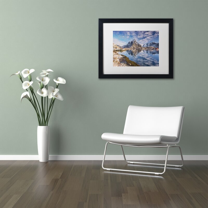 Trademark Art Mirror In The Fjord By Michael Blanchette Framed Photographic Print Wayfair