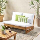 Enjoyable Outdoor Love Seat With Ottoman Wayfair Creativecarmelina Interior Chair Design Creativecarmelinacom