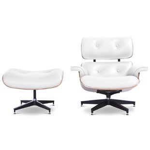 Brayden Studio Grant Swivel Lounge Chair and Ottoman