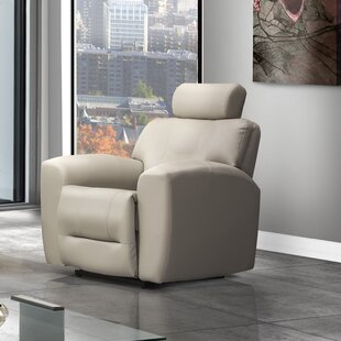 Devin Leather Power Rocker Recliner