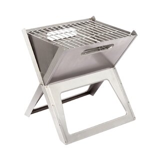 Crissman 27.5cm Stainless Steel Charcoal Barbecue By Symple Stuff