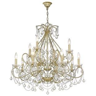 House of Hampton Frey 12-Light Candle Style Chandelier
