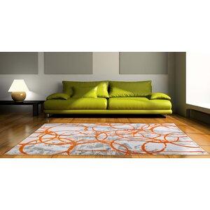 Tricia Ivory/Orange/Gray Area Rug