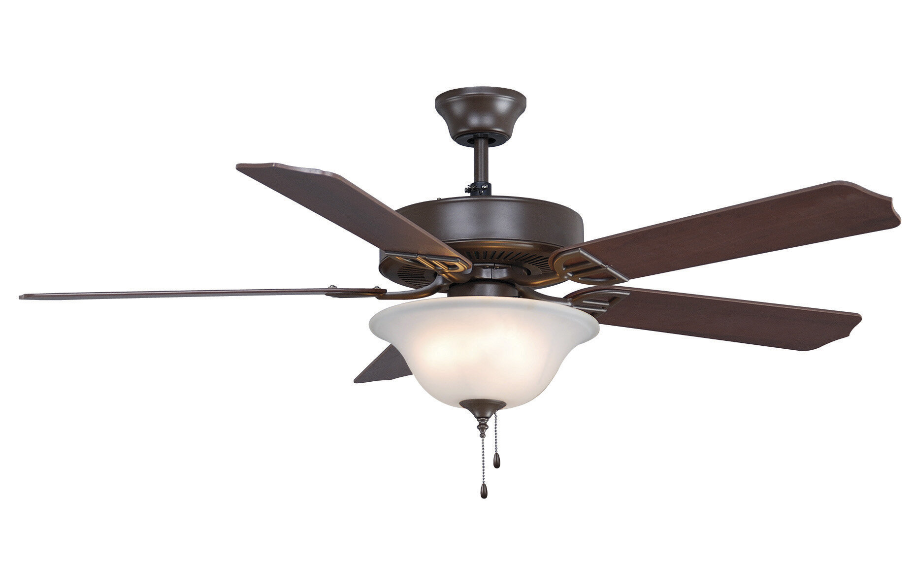 Fanimation 52 Aire 5 Blade Led Standard Ceiling Fan With Pull Chain And Light Kit Included Wayfair