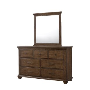 Gracie Oaks Dorey 7 Drawer Dresser with Mirror