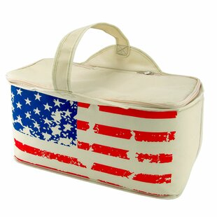 Patriotic Stars and Stripes Leak Proof Cooler Bag