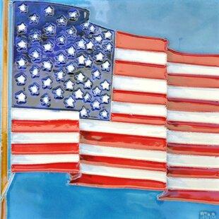 American Flag Tile Wall Decor