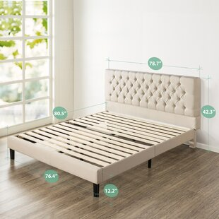 Hoffmann Tufted Upholstered Platform Bed