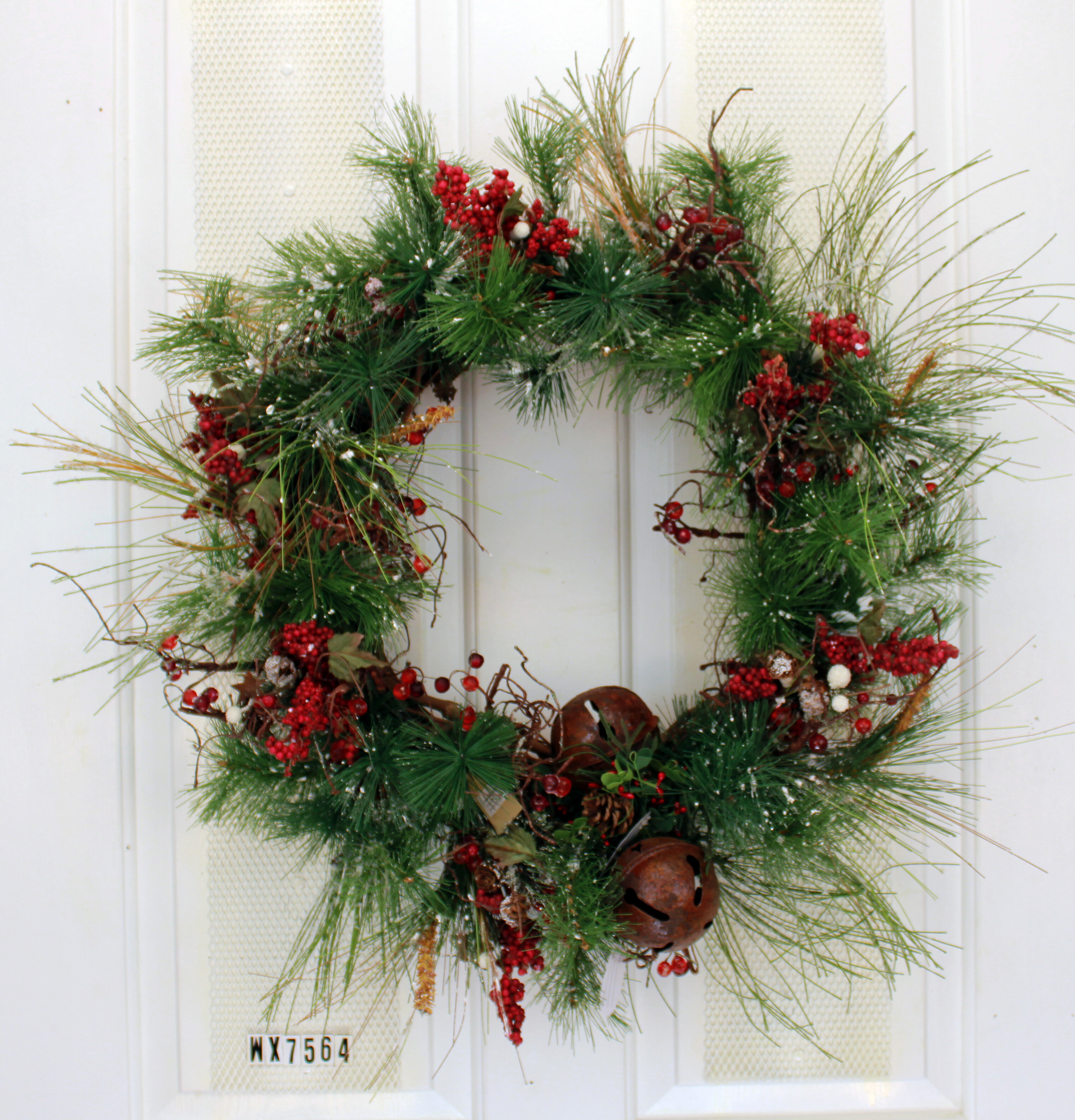 magnolia wreath Bells Wreath winter wreath