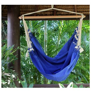 Single Person Fair Trade Cozy Copacabana' Hand-Woven Brazilian Cotton Swinging Chair Hammock