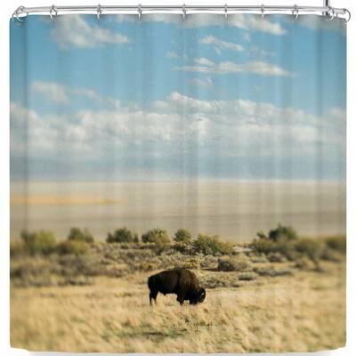 Bison Americana Shower Curtain