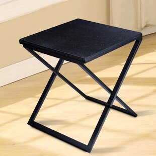 Red Barrel Studio Sturgis Marble Top End Table