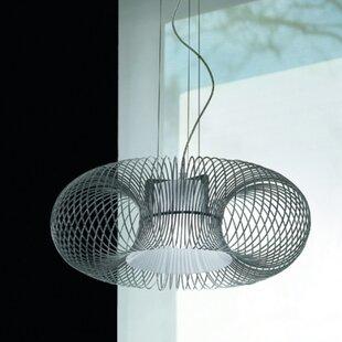 Spring 1-Light Drum Pendant by Morosini