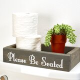 Basdeo 7 W x 2.5 H x 12 D Solid Wood Free-Standing over-the-Toilet Storage by Gracie Oaks