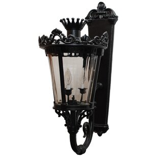Best Review Phillipstown 3-Light Outdoor Sconce By Alcott Hill