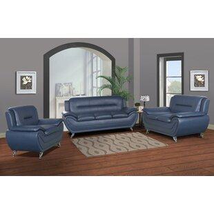 Gatto 3 Piece Living Room Set by Orren Ellis