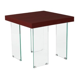 Benjamin Wood Grain Finish Square End Table by Wrought Studio