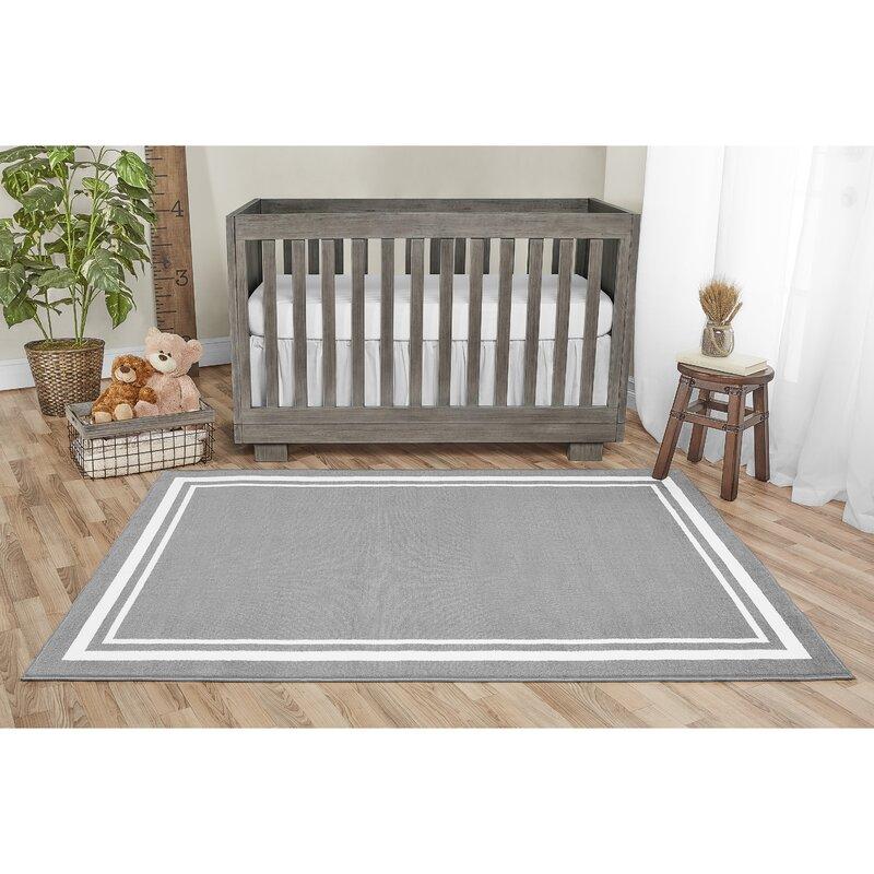 Evolur Home Nursery Gray Area Rug Wayfair