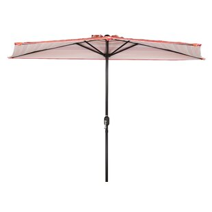 Trademark Innovations Patio Half 9' x 4.5' Rectangular Market Umbrella