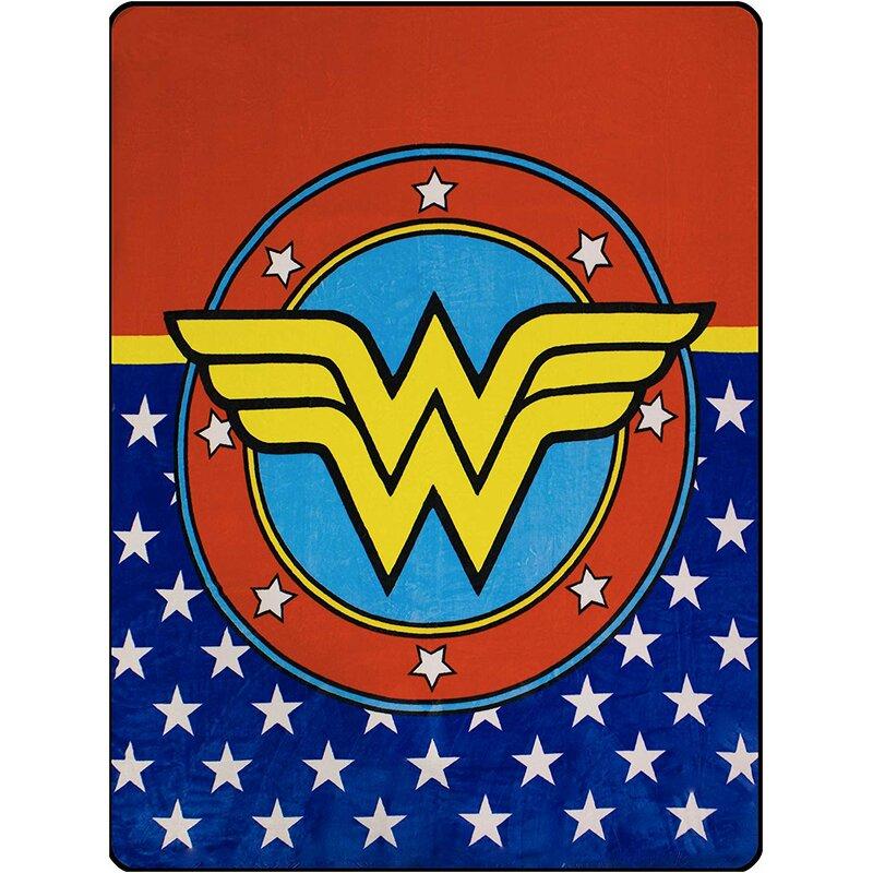 Crover Wonder Woman Logo Queen Flannel Blanket Wayfair