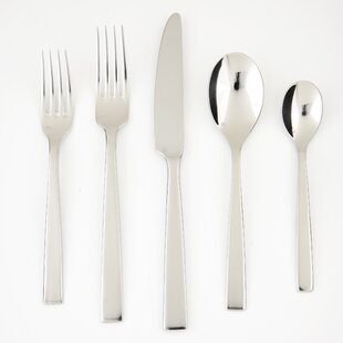 Spada 5 Piece 18/10 Stainless Steel Flatware Set, Service for 1