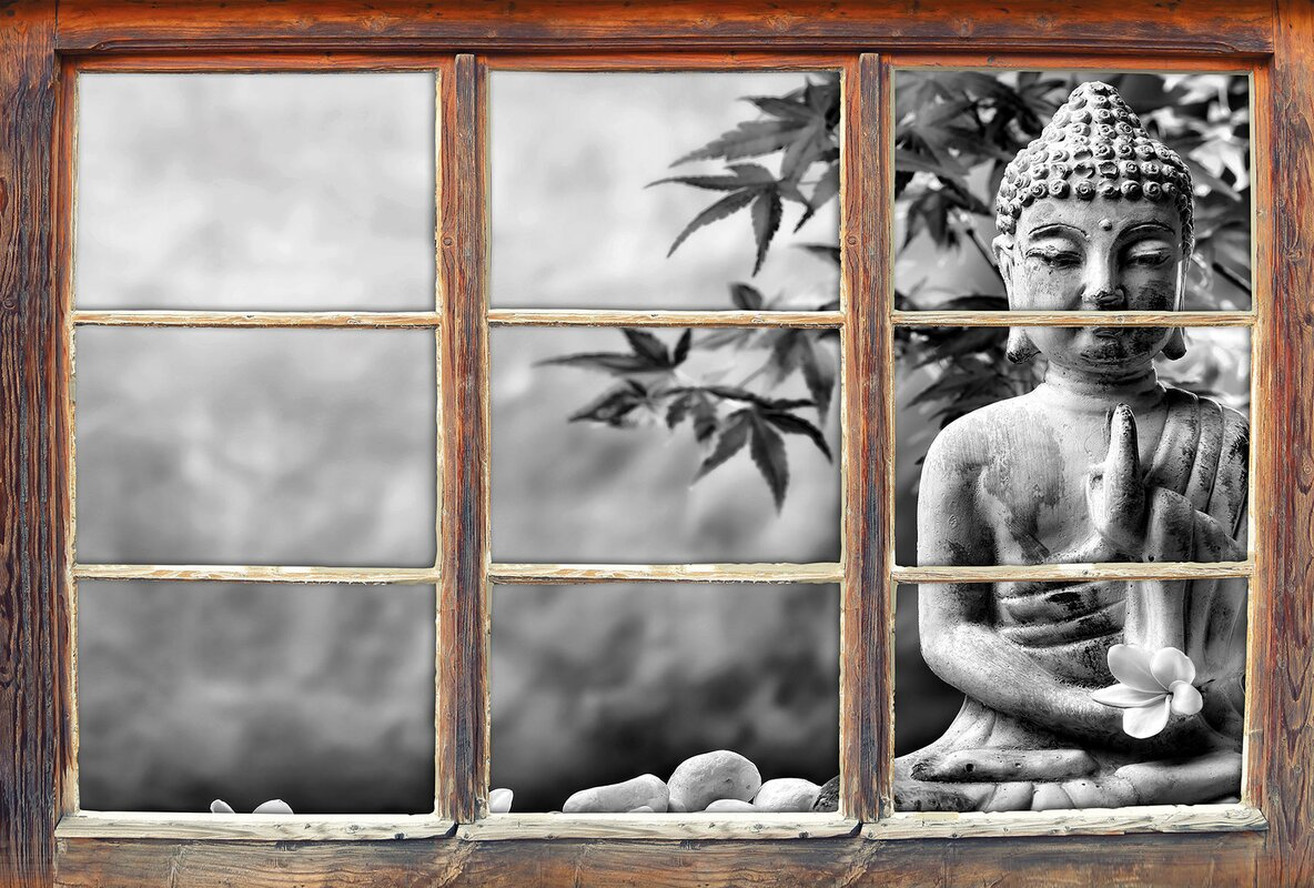 Home loft concept wandtattoo buddha auf steinen mit monoi - Wandtattoo buddha ...