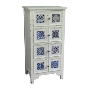 Jeco Inc. Antique Wooden 4 Drawer Accent Chest