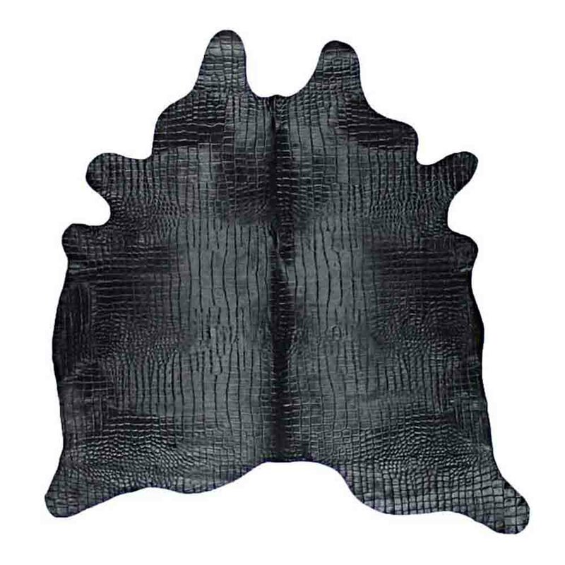 Saddlemans Animal Print Handmade Cowhide Black Area Rug Perigold