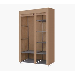 Solid Wood Armoire by Rebrilliant