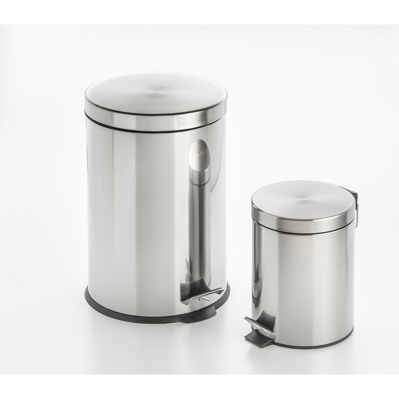 Cooks On Fire Step On 7 9 Gallon Stainless Steel Trash Can Reviews Wayfair