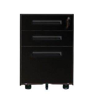 Hagen 3-Drawer Mobile Vertical Filing Cabinet by Rebrilliant