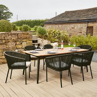 Ibaka 6 Seater Dining Set With Cushions By Sol 72 Outdoor