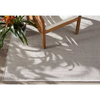de50f1a47d73 Dash and Albert Rugs C3 Herringbone Gray Indoor/Outdoor Area Rug ...