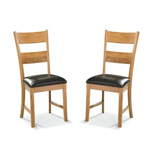 Whipple Upholstered Ladder Back Side Chair in Brown (Set of 2) by Millwood Pines SKU:CB282245 Buy