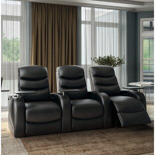 Orren Ellis Leather Home Theater Sofa