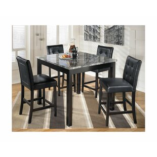 Liska 5 Piece Counter Height Dining Set by Ebern Designs