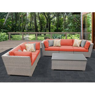 Meeks 6 Piece Sofa Seating Group with Cushions