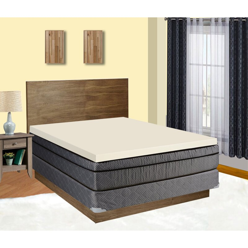 Alwyn Home Audra 2 Memory Foam Mattress Topper Wayfair