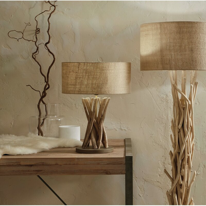 Aldwych 50cm Table Lamp | Jute table