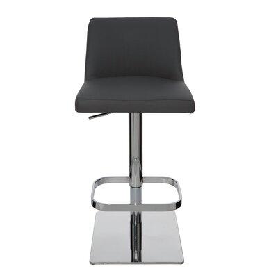 Fabulous Rome Adjustable Height Swivel Bar Stool Nuevo Upholstery Grey Theyellowbook Wood Chair Design Ideas Theyellowbookinfo