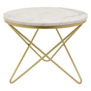 Potrero Metal Marble Top End Table by Bra..