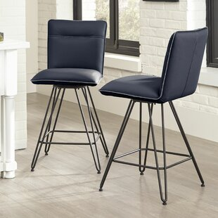 Greaney 24 Swivel Bar Stool (Set of 2) Williston Forge