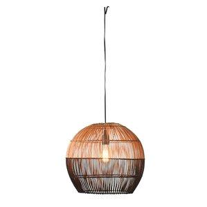 Havana Round Bamboo 1 Light Inverted Pendant