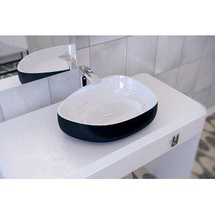 Comparison Metamorfosi™ Ceramic U-Shaped Vessel Bathroom Sink By Aquatica
