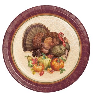 Thanksgiving Turkey Paper Plate (Set of 24)