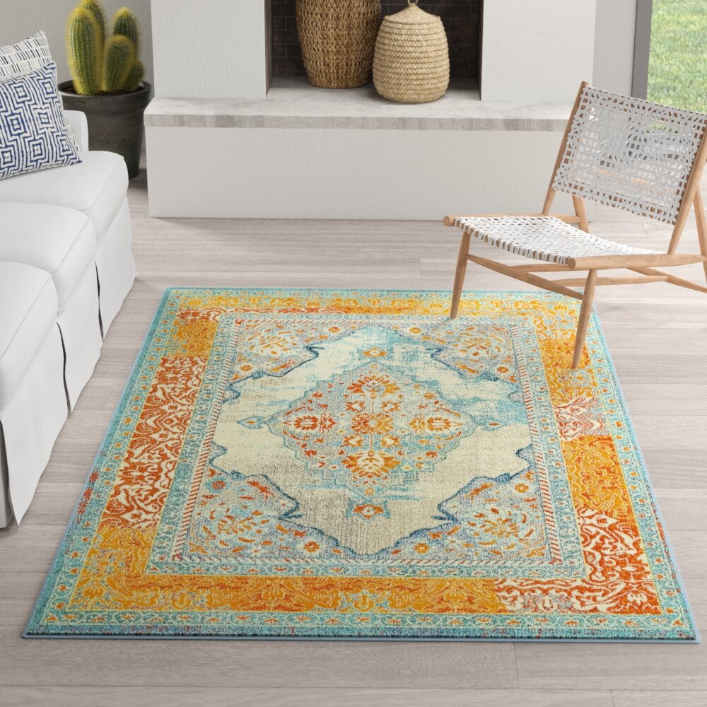 Persian Traditional oriental style thick heavy dense non slippery Turquoise Rugs