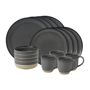 Brushed Glaze 16 Piece Dinnerware Set, Service for 4
